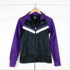 Nike Purple & Black Zip Up Jacket